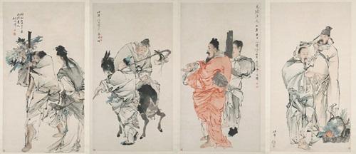 陪你看懂陈之初香雪庄旧藏 任伯年《八仙图》