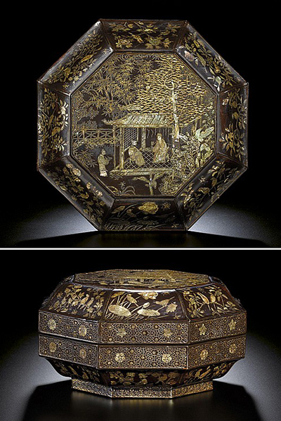 Octagonal covered box