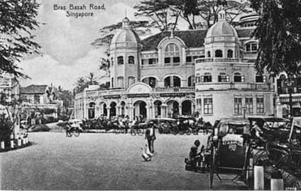 View of Bras Basah Road during the 1900s