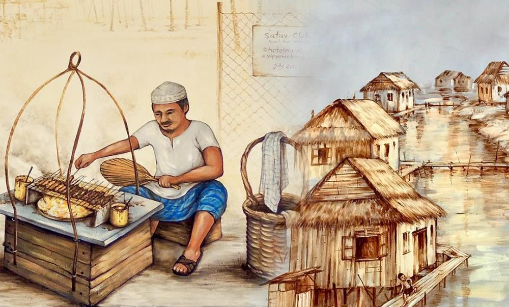 Mural Satay and Kampung