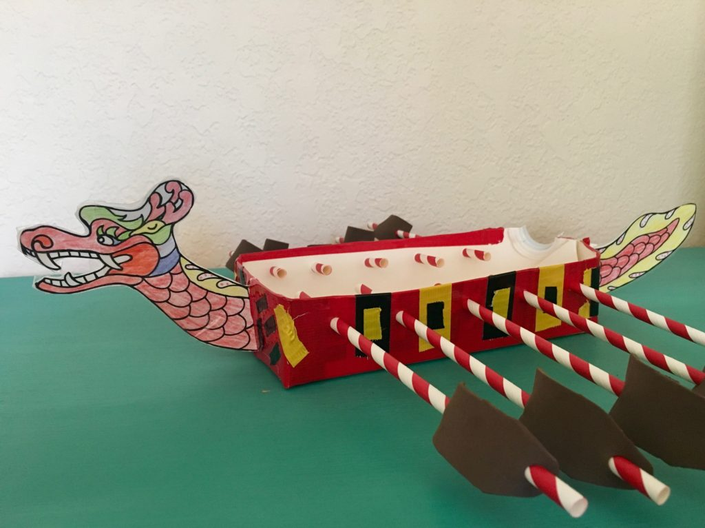 Dragon boat stationery tray