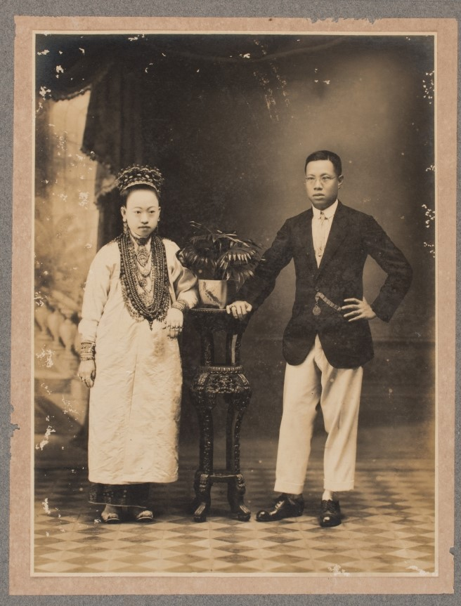 Studio Portrait of a Peranakan Couple