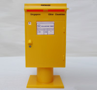 Singapore 1971 Yellow Miniature Coin Bank Postbox